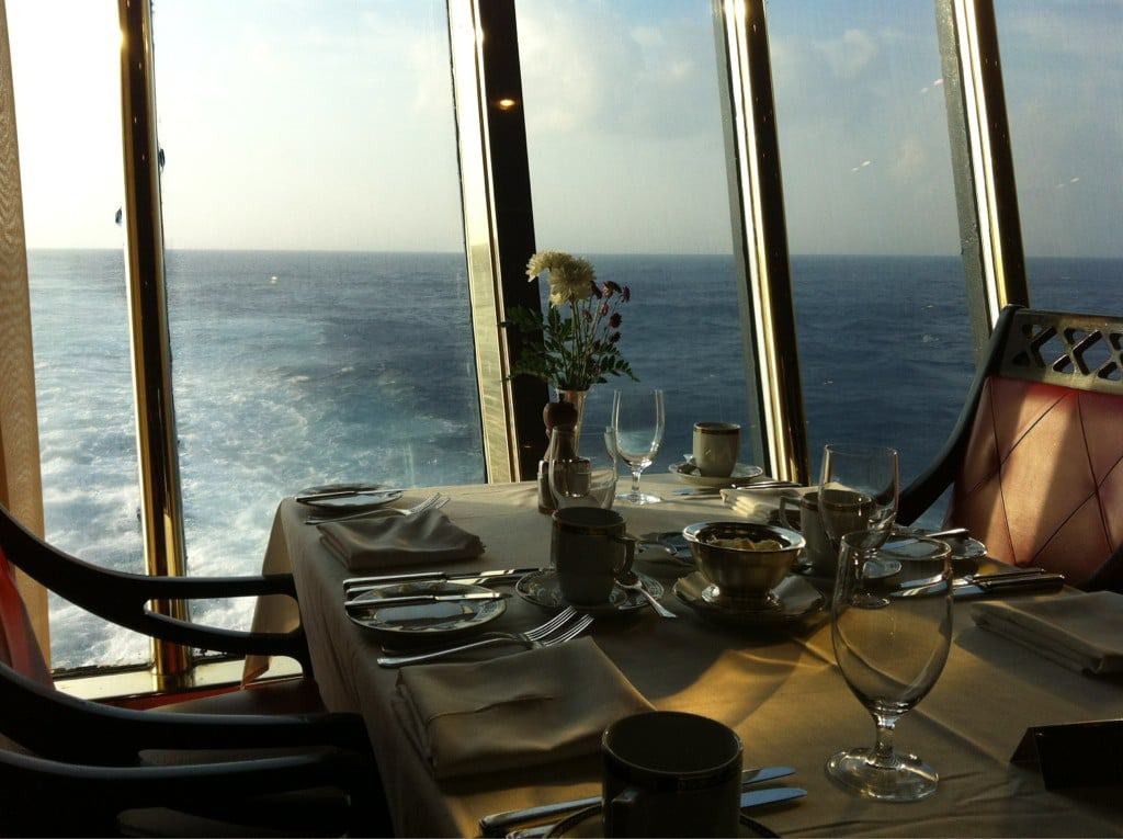 A room with a view in the Main Dining Room.