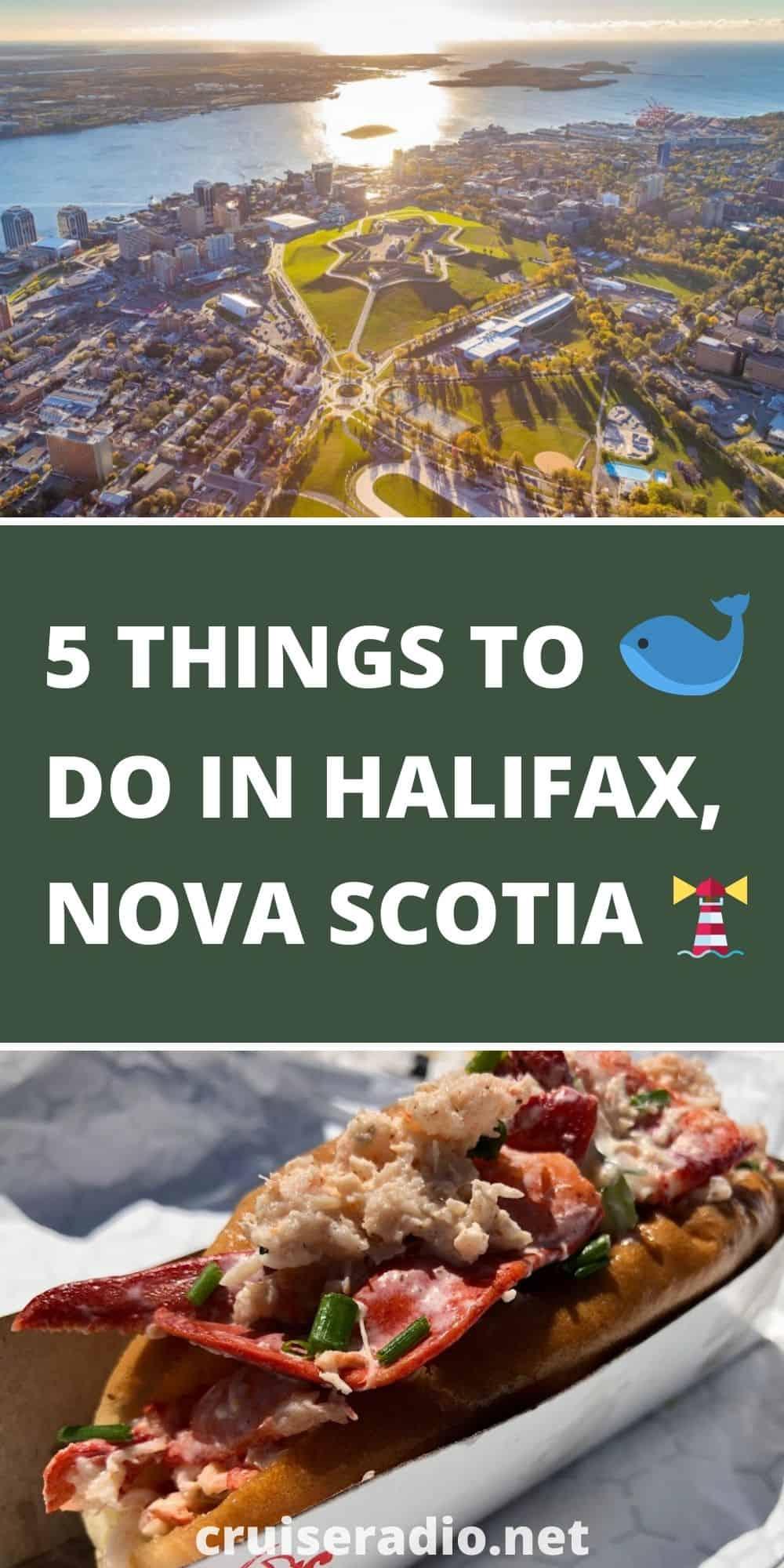 5 things to do in halifax, nova scotia pinterest image