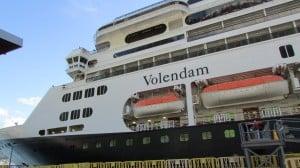 ms Veendam docked in Alaska.