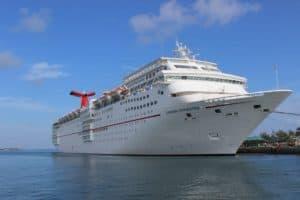 Carnival Fascination docked in Nassau.