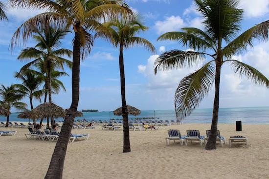 Beachfront area of the Melia.