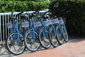 Bike rentals are very popular in Key West.