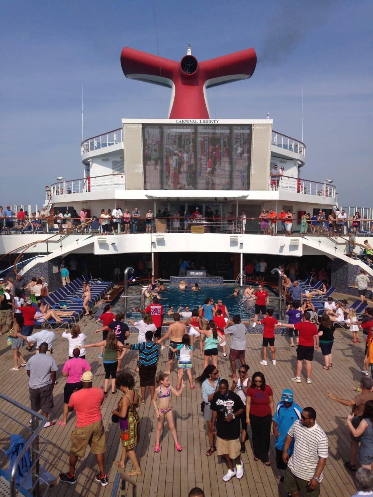 Carnival Lido Deck sail away party