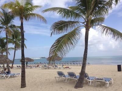 Cable Beach in Nassau, Bahamas.