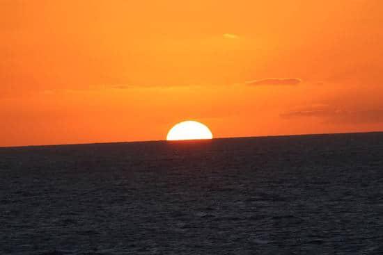 A Western Caribbean sunset.