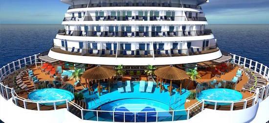 The Havana Pool aboard Carnival Vista.