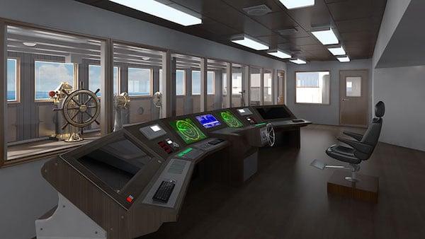 Navigational Bridge. photo: Blue Star Line