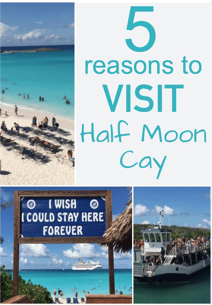 5 Reasons to Visit Half Moon Cay - #carnivalcruise #carnival #carnivalcruiseline #halfmooncay #caribbean #island #cruise #vacation