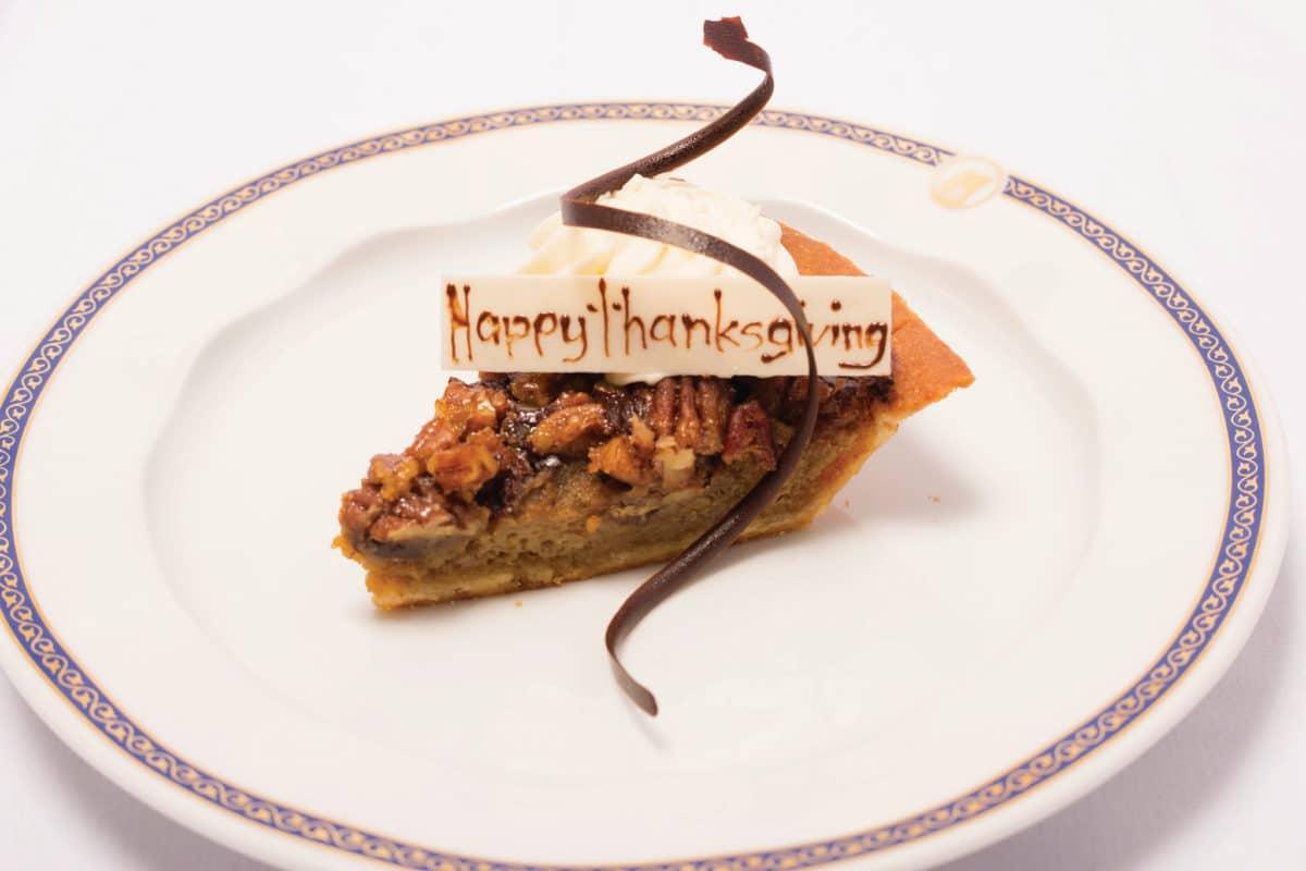 Holland America's Thanksgiving Pecan Pie