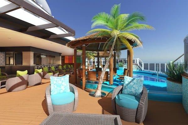 Havana Pool - rendering: Carnival Cruise Line