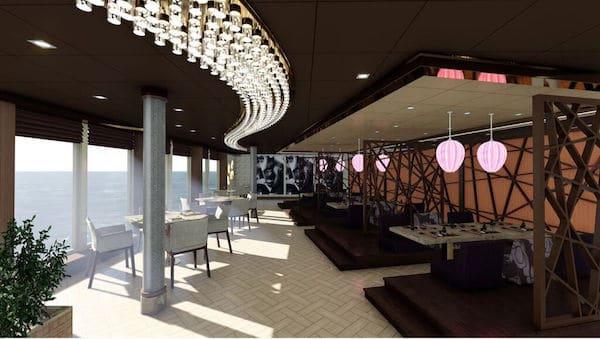 Asian restaurant - rendering: MSC Cruises