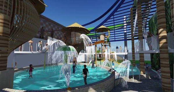 Aqua Park - rendering: MSC Cruises