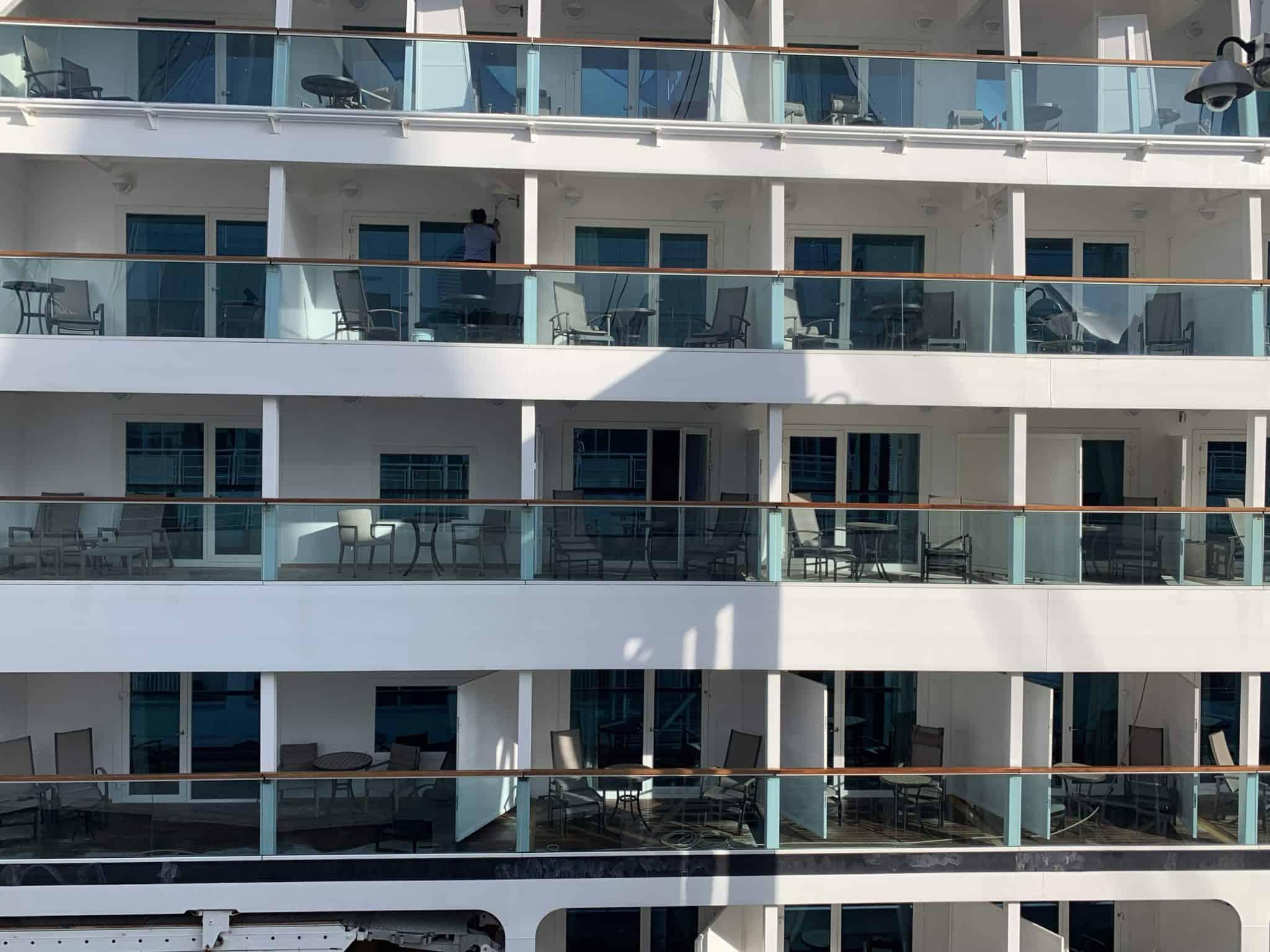 balcony cabins cruise ship