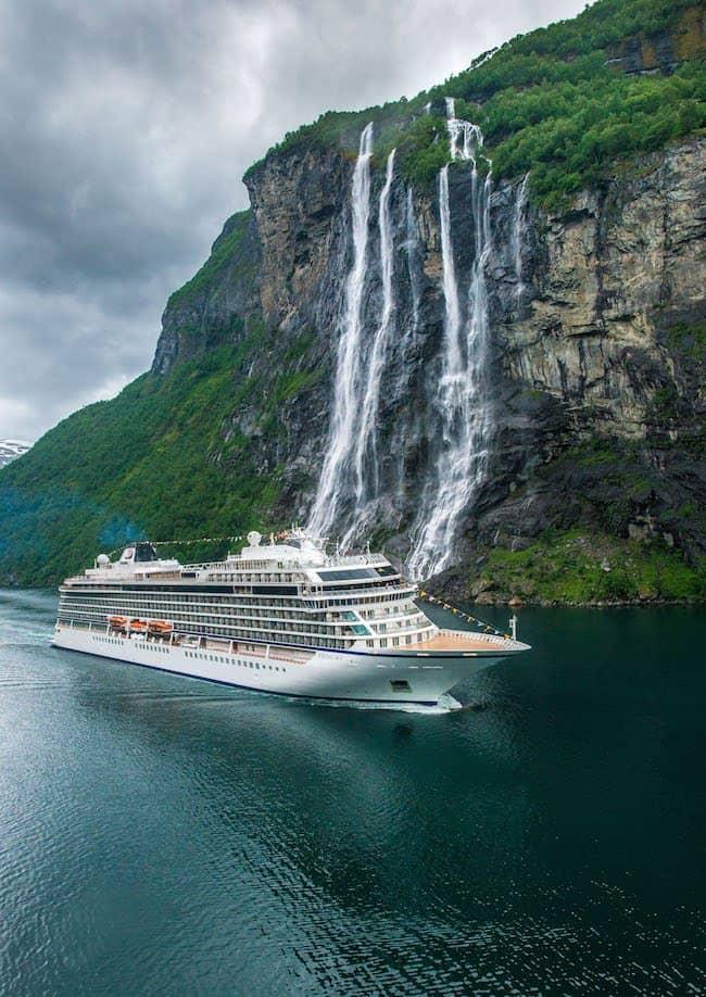 viking sky seven sisters waterfall geiranger norway