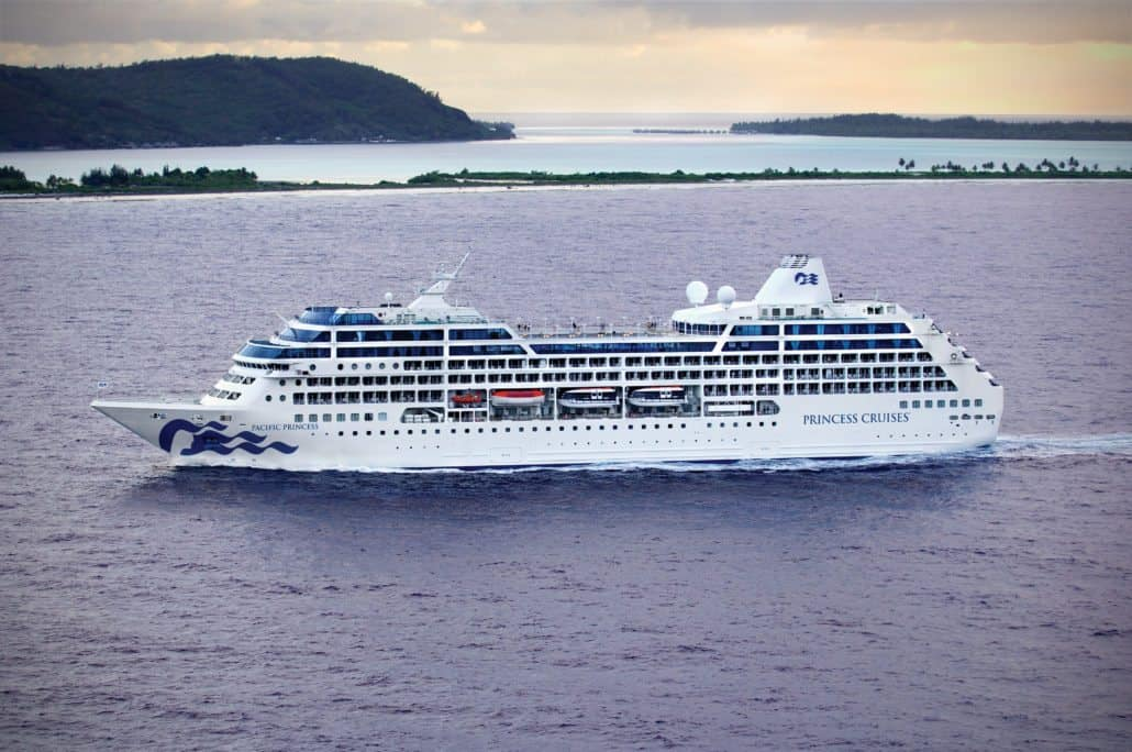 pacific princess exterior aerial