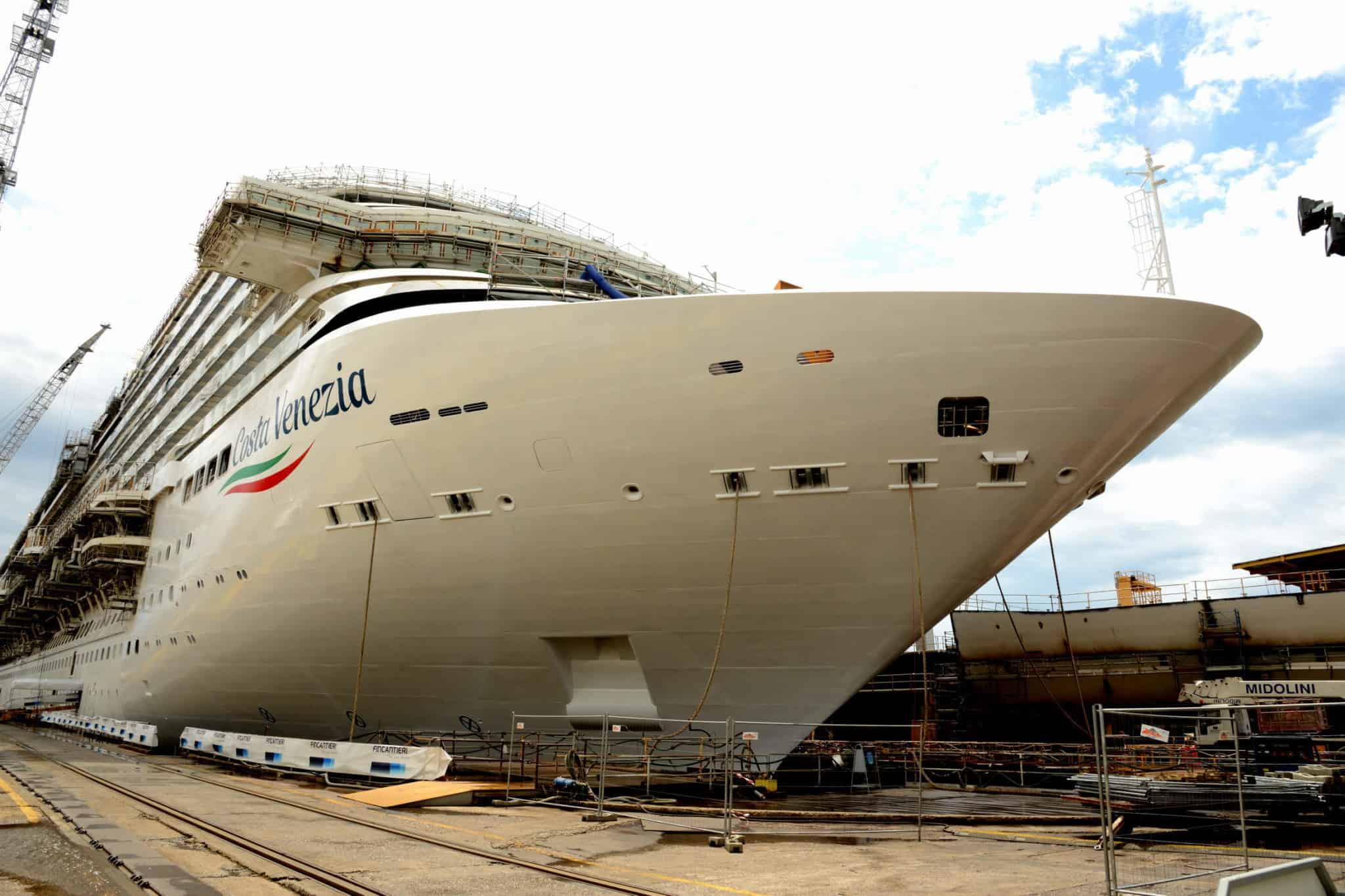 Cruise Line Celebrates Float-Out of China-Bound Ship