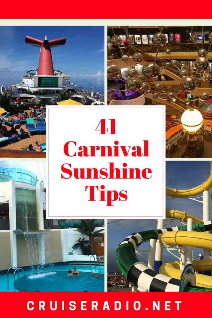 CARNIVAL SUNSHINE TIPS