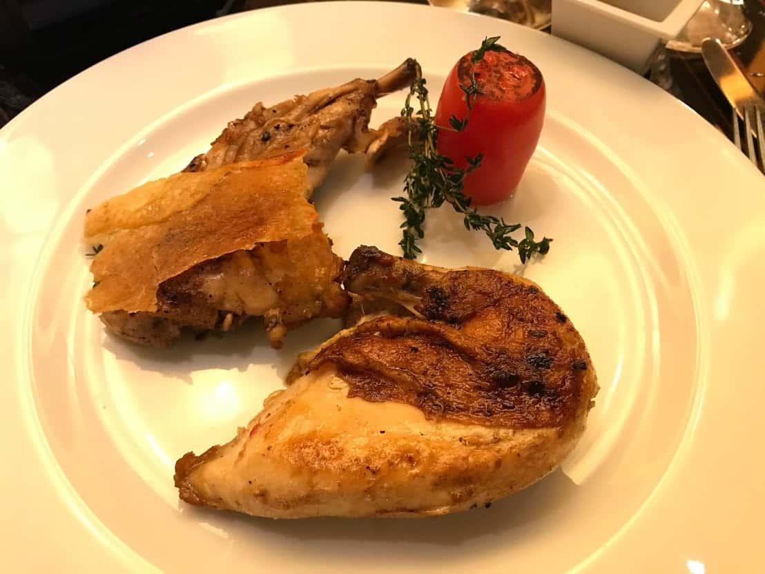 Honey glazed chicken is on the new steakhouse menu.