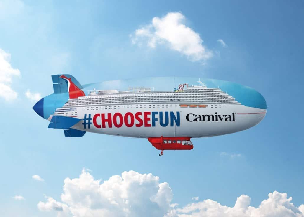 carnival cruise line blimp