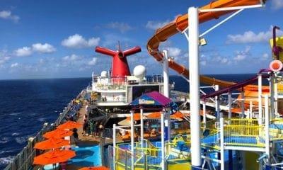 carnival breeze upper deck at sea