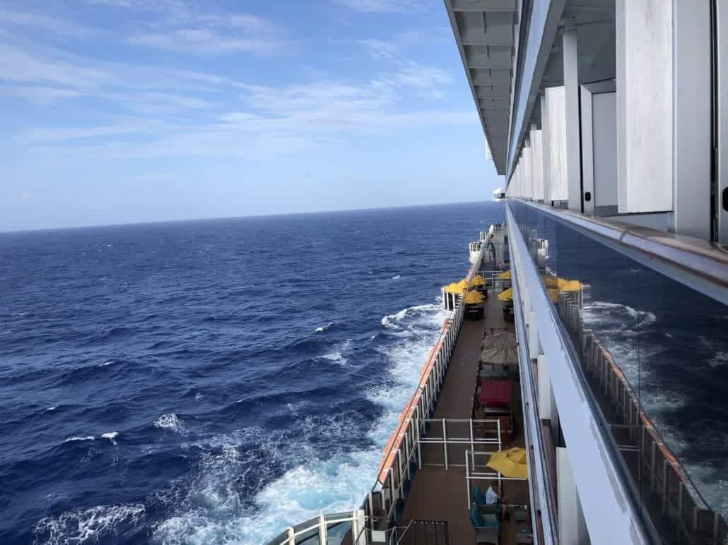 cruise ship at sea