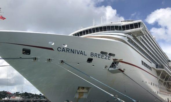 Carnival Breeze docked