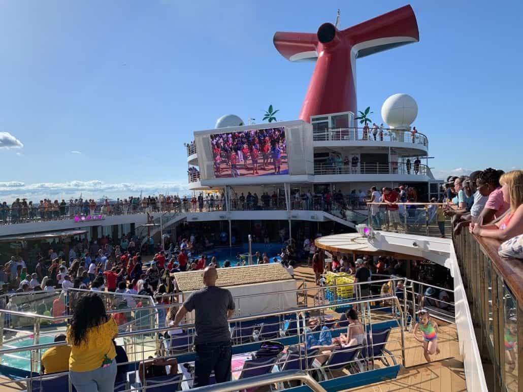 Carnival Sunrise sail away