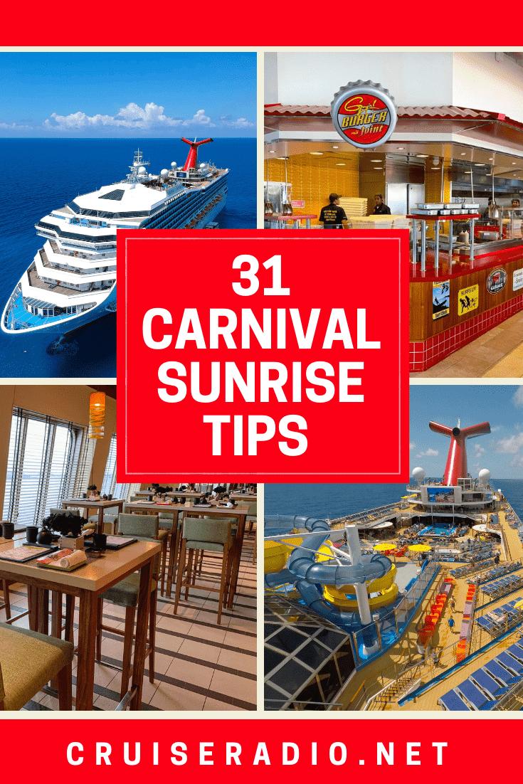 31 Carnival Sunrise Cruise Tips