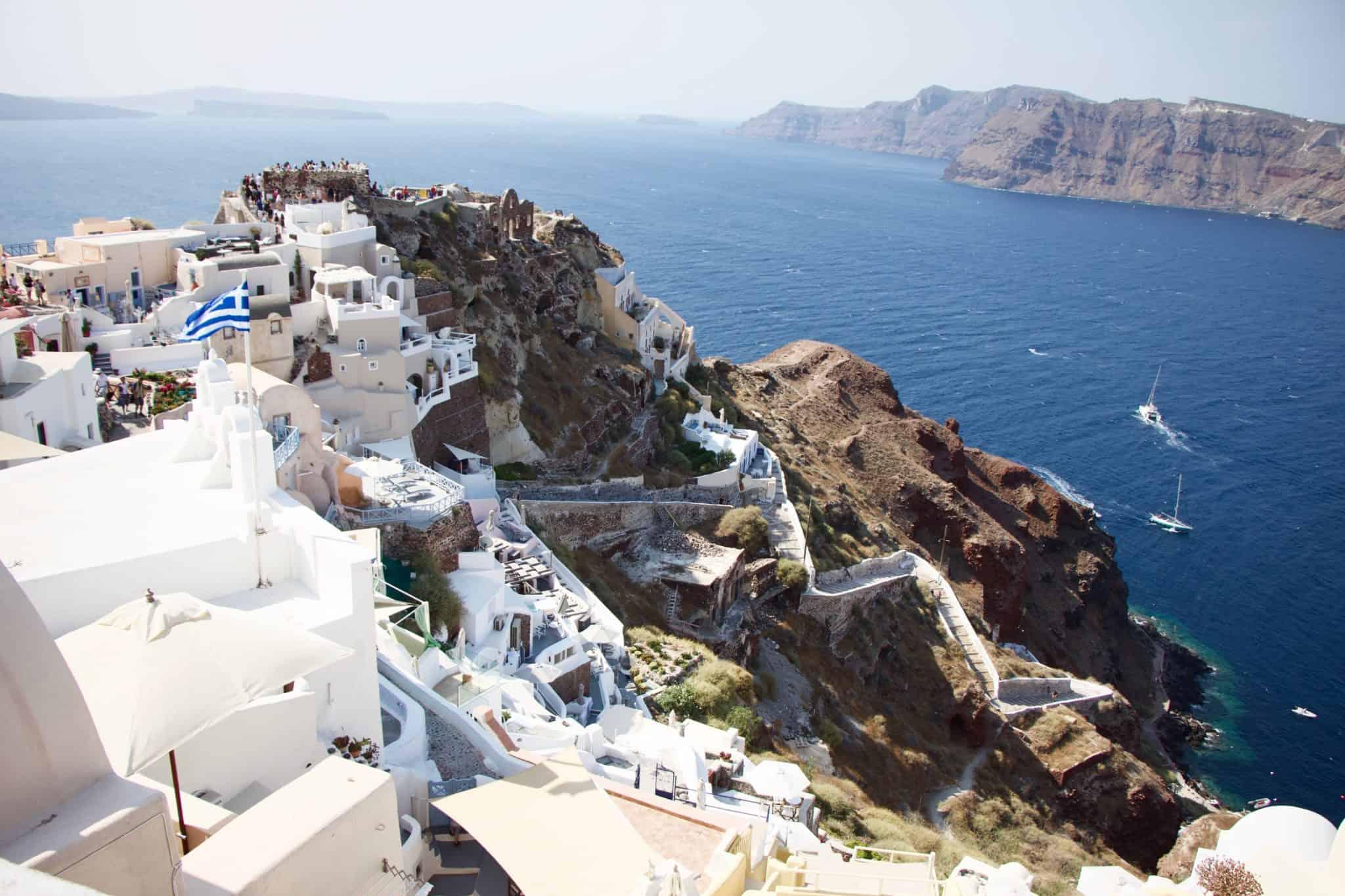 oia caldera santorini greece