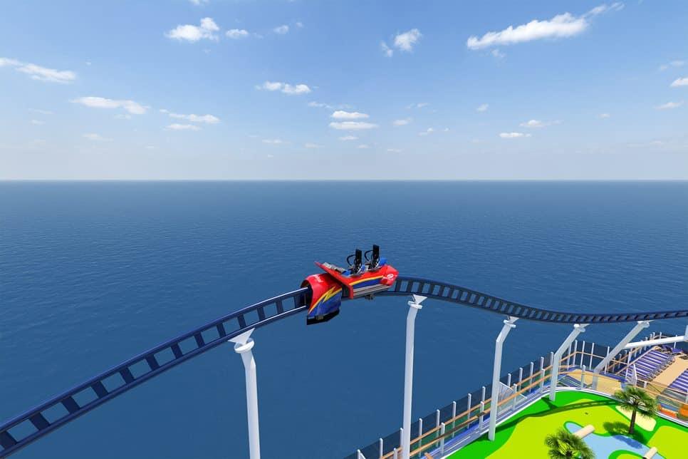bolt roller coaster rendering carnival cruise line mardi gras