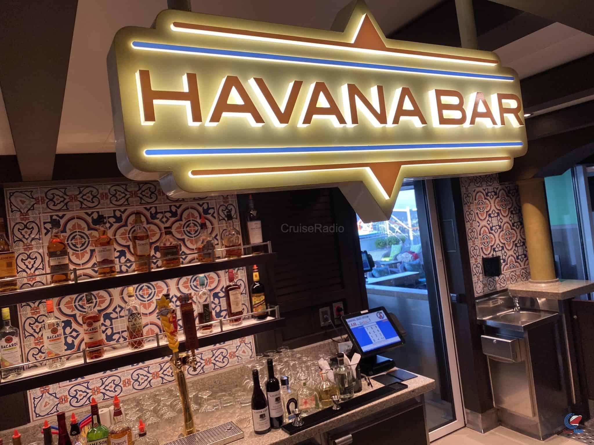 Carnival Panorama havana bar
