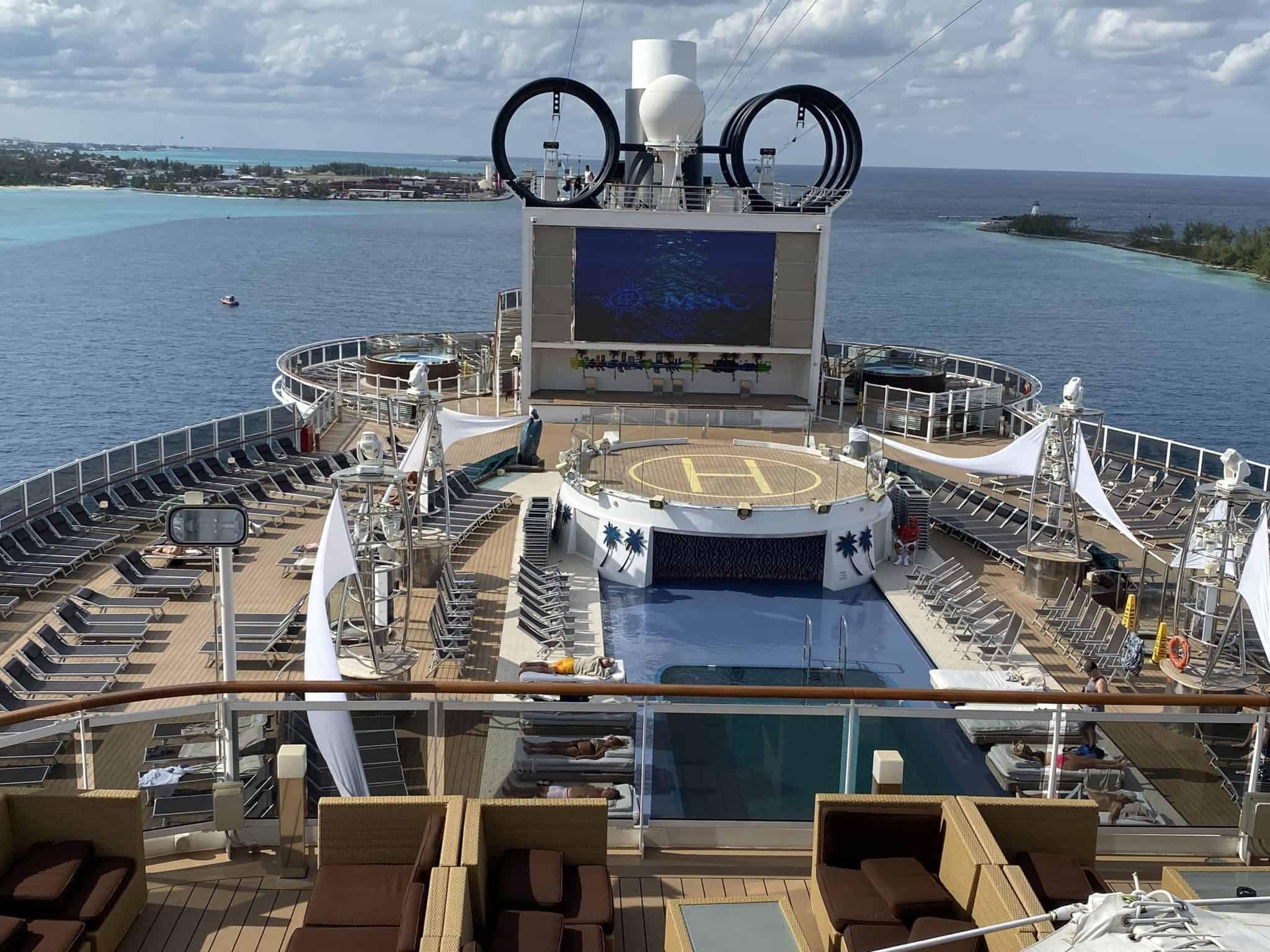 View from a higher deck aboard MSC Seaside