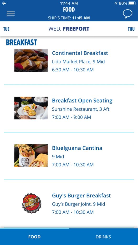 guy's breakfast on app