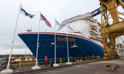 Carnival's New Mega Ship Floats From Dry Dock [PHOTOS]