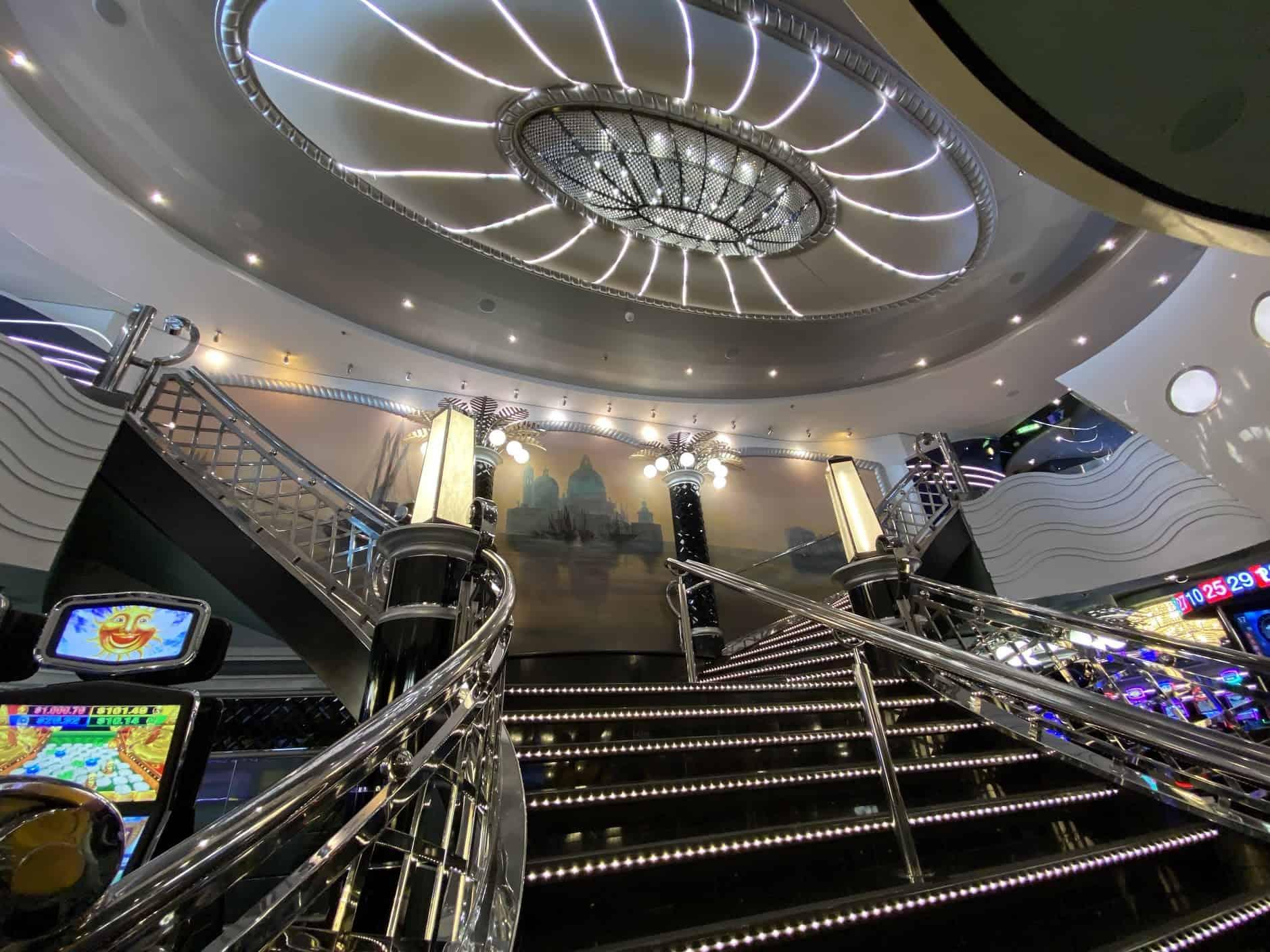 grand staircase msc divina casino