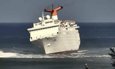 Cruise Ship Has Rocky Ride Into Port [Video]