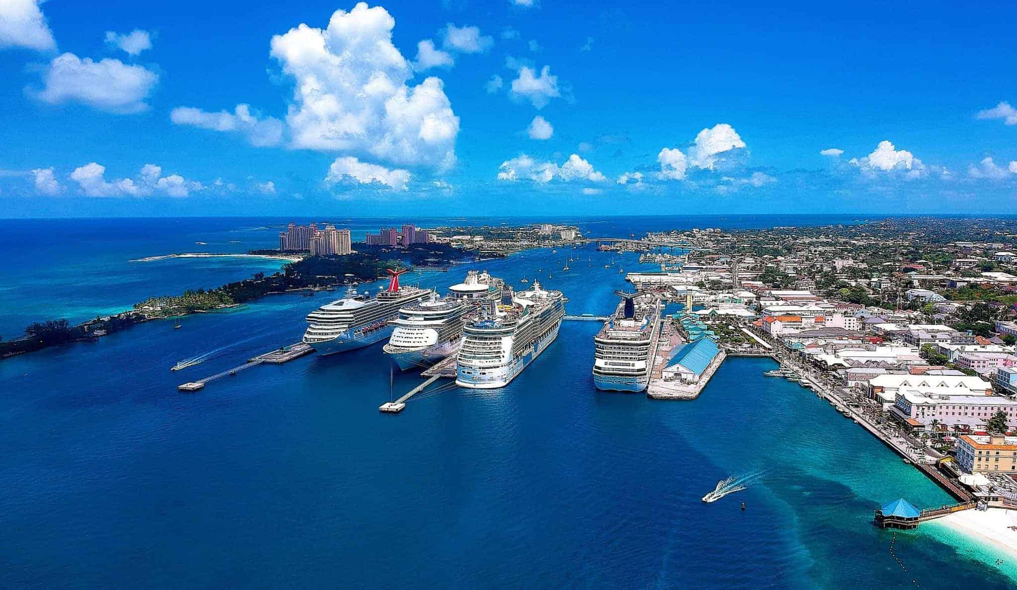 drone nassau bahamas cruise ships