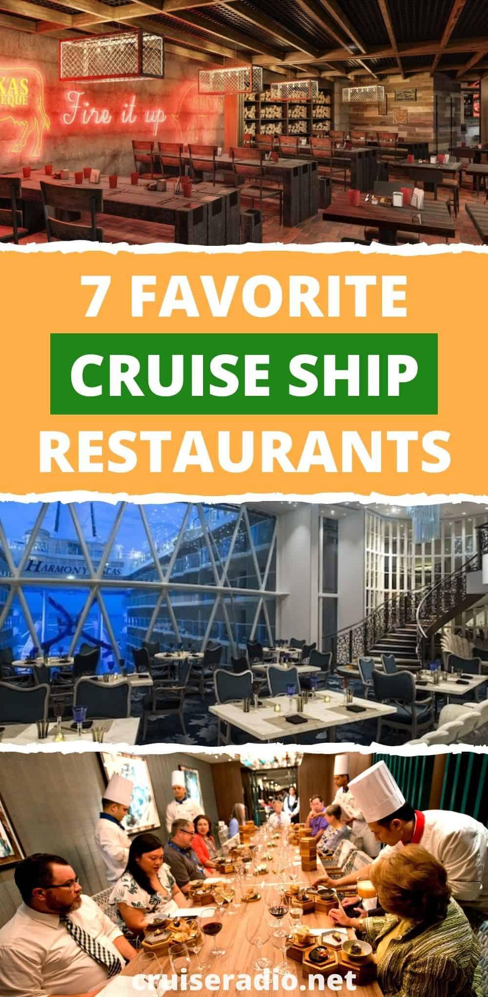 7 favorite cruise ship restaurants