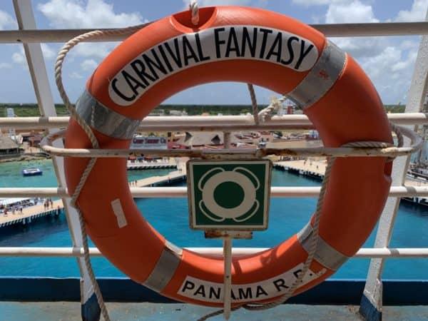 Carnival Fantasy life ring cruise