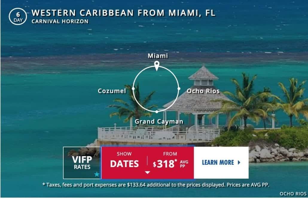 Carnival Horizon itinerary