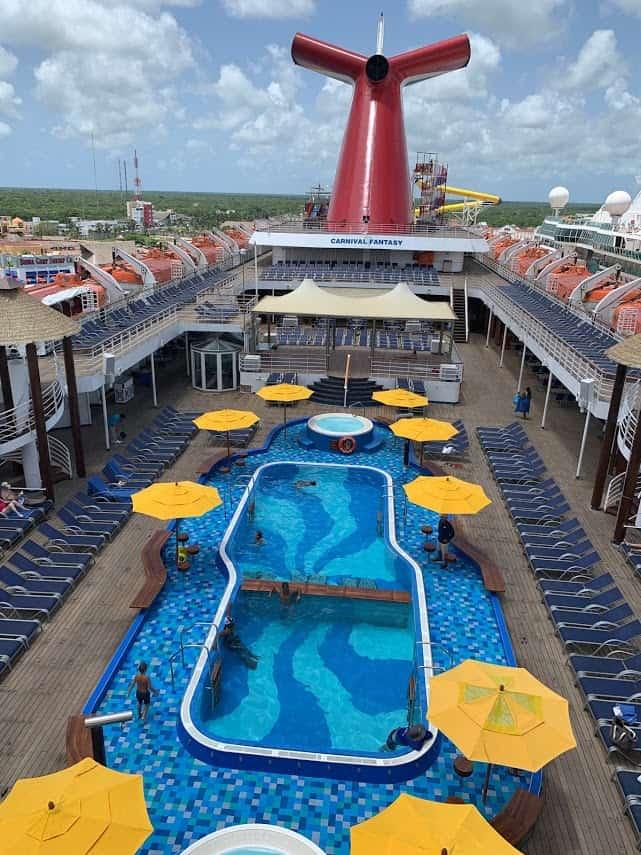 Carnival Fantasy pool deck