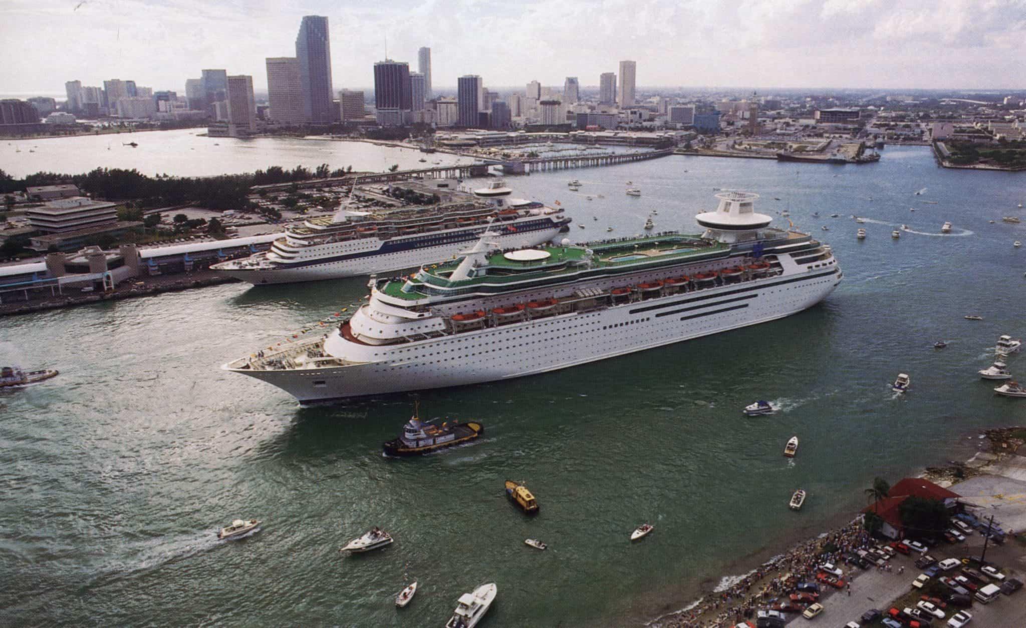 cruise ship port miami inaugural
