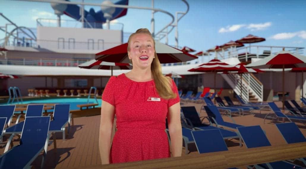 Emma Nixon hosting promo video carnival panorama
