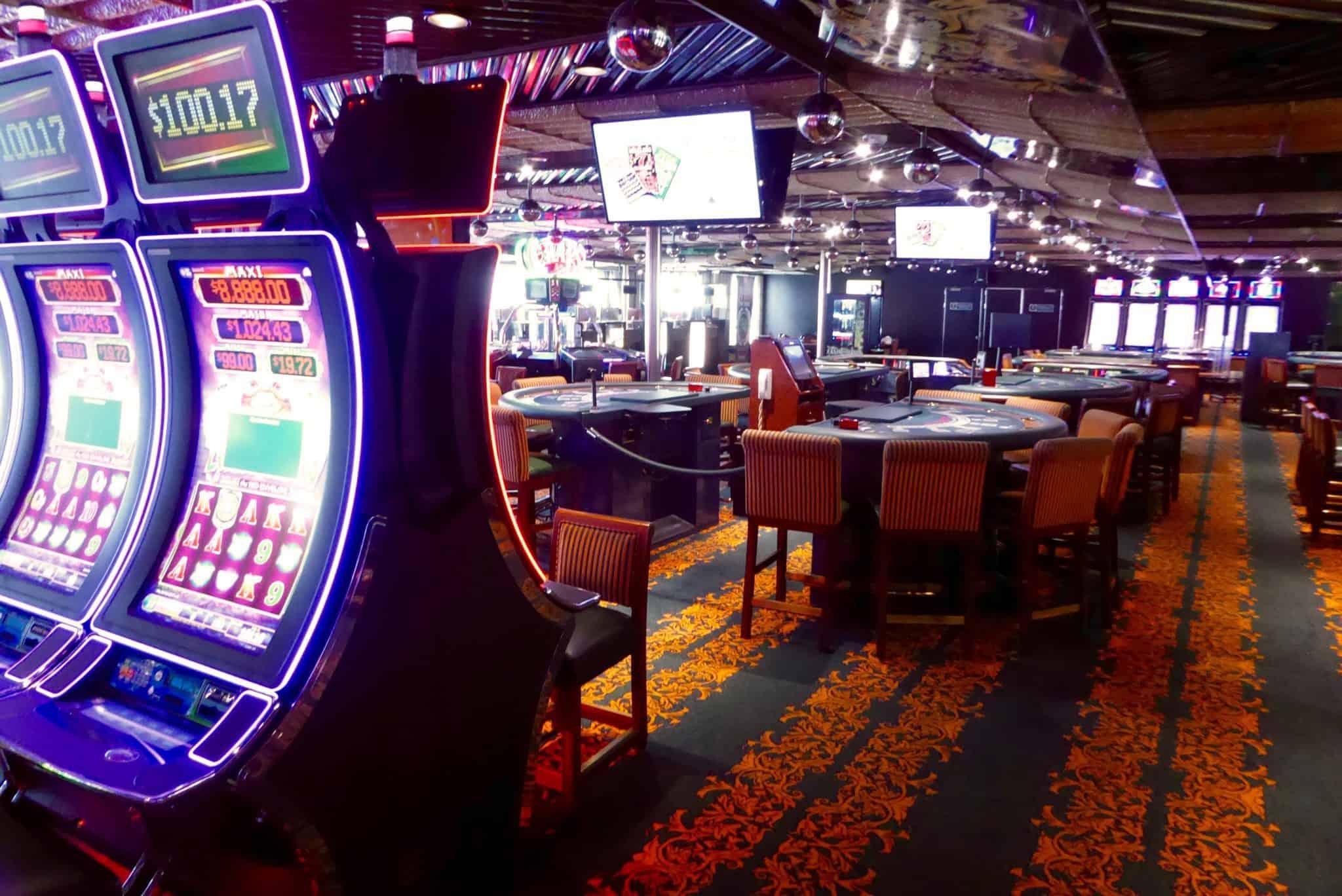 monte carlo casino on the carnival inspiration cruise ship