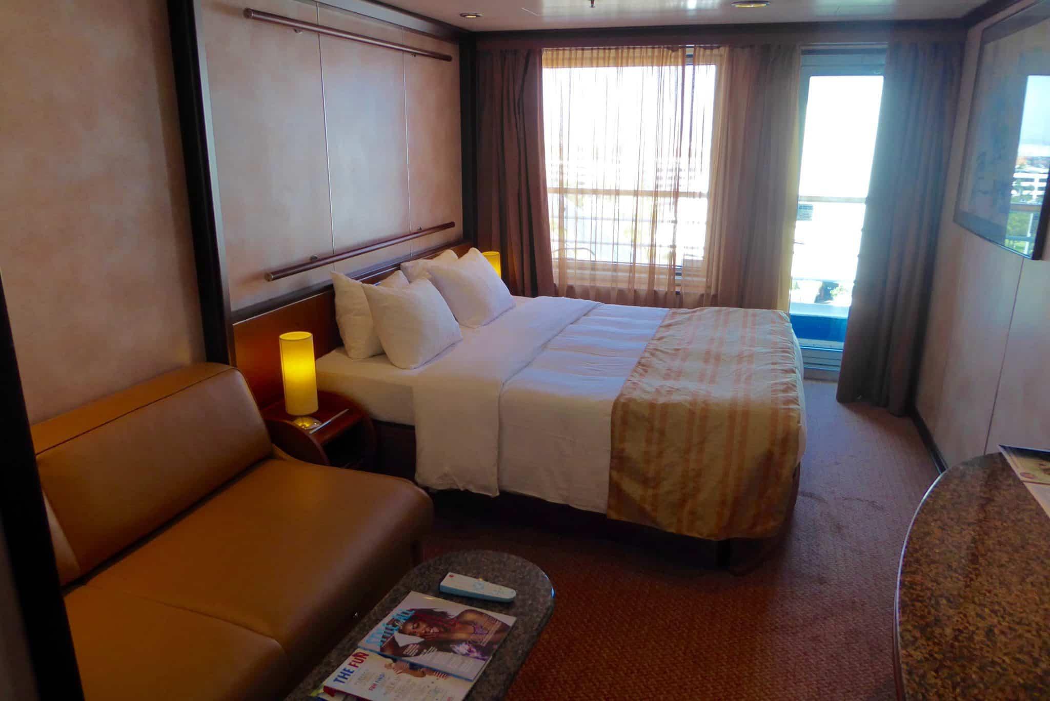 verandah deck demi-suit on the carnival inspiration cruise ship