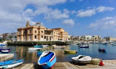 bari italy harbor old city