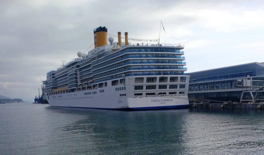 Costa Luminosa Docked