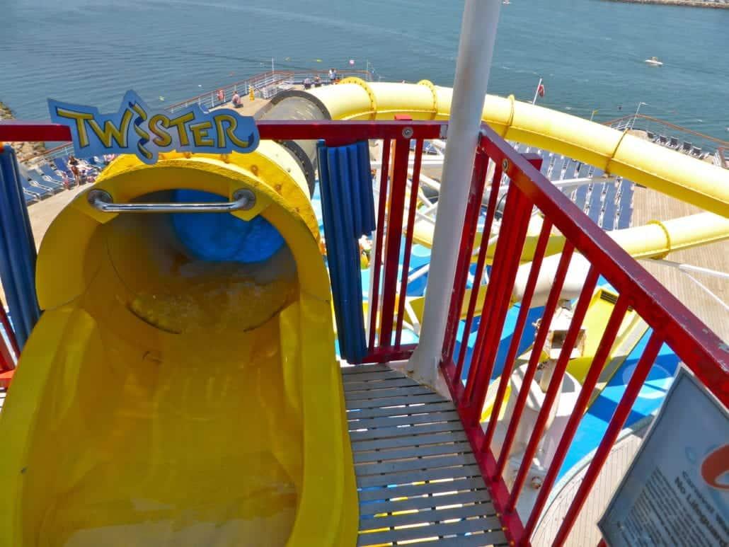 Carnival Imagination WaterWorks Twister Water Slide