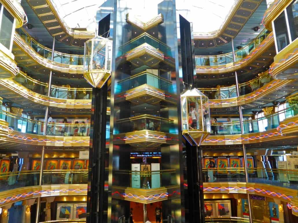 Carnival Imagination Atrium Elevators