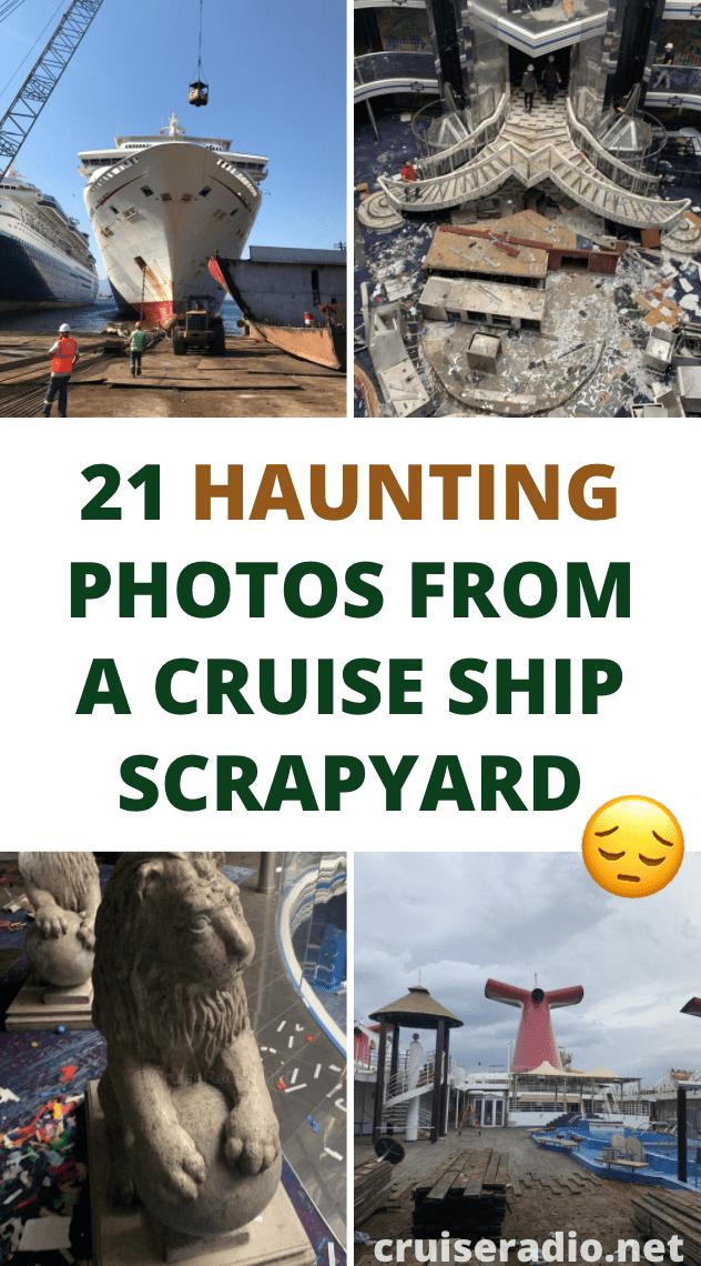 haunting photos from a cruise ship scrapyard - carnival fantasy